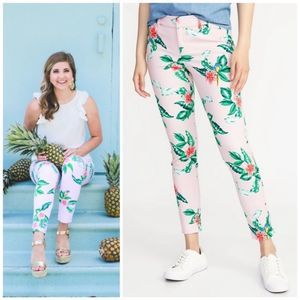 Old Navy Crop Pixie Palm Pant 10 Tall EUC